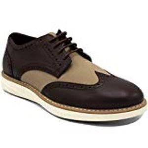 New Nautica Brown and Tan Wingdeck Lace Up Shoes